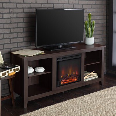 """Latest Rickard Tv Stands For Tvs Up To 65"""" With Fireplace Included Within Beachcrest Home Sunbury Tv Stand For Tvs Up To 65"""" With (View 3 of 10)"""