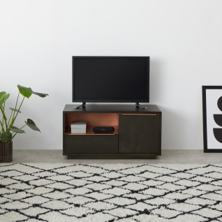 """Latest Rustic Corner 50"""" Solid Wood Tv Stands Gray With Anderson Corner Tv Stand, Mocha Mango Wood And Copper (View 9 of 10)"""