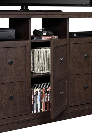 """Latest Spellman Tv Stands For Tvs Up To 55"""" With Cooper Apothecary Tv Stand For Tvs Up To 55"""", Espresso (View 8 of 10)"""