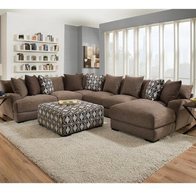"""Latitude Run Ashanti 226"""" Sectional Orientation: Right Arm Regarding 2018 2pc Maddox Right Arm Facing Sectional Sofas With Cuddler Brown (View 9 of 10)"""