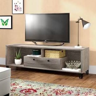 Latitude Run Frederick Tv Stand For Tvs Up To 60 Regarding Most Up To Date Conrad Metal/glass Corner Tv Stands (View 5 of 10)
