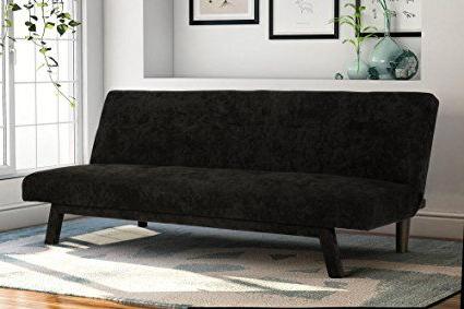 Liberty Sectional Futon Sofas With Storage With Regard To Recent Premium Austin Convertible Sofa Futon, Rich Black (View 6 of 10)