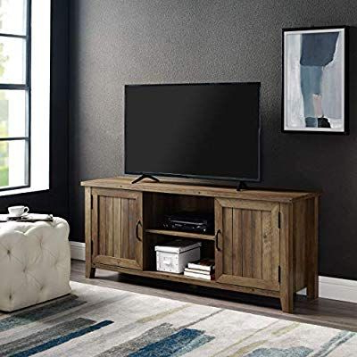 Living With Latest Walker Edison Farmhouse Tv Stands With Storage Cabinet Doors And Shelves (View 5 of 10)