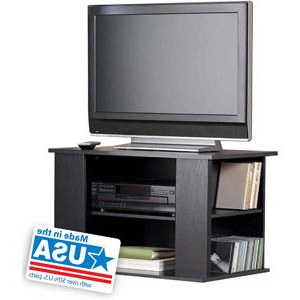Mainstays 3 Door Tv Stands Console In Multiple Colors Inside Fashionable Mainstays Tv Stand With Side Storage For Tvs Up To  (View 3 of 10)