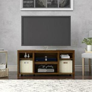 """Mainstays 3 Door Tv Stands Console In Multiple Colors Within Trendy Mainstays Parsons Cubby Tv Stand For Tvs Up To 50"""", Canyon (View 6 of 10)"""