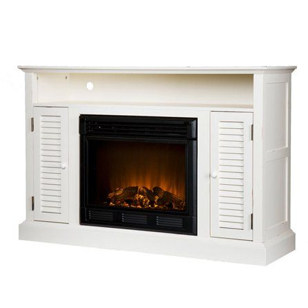 Mainstays Tv Stands For Tvs With Multiple Colors Within Well Known Southern Enterprises Antebellum Media Electric Fireplace (View 7 of 10)