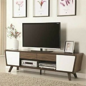 """Manhattan Compact Tv Unit Stands In Best And Newest Retro 75"""" Tv Media Stand Console Cabinet Modern Mid (View 8 of 10)"""