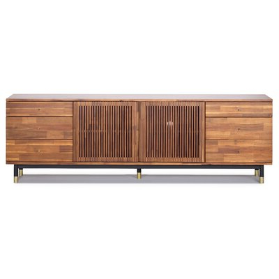 """Manolla Solid Wood Tv Stand For Tvs Up To 88 Inches For Newest Ailiana Tv Stands For Tvs Up To 88"""" (View 6 of 10)"""