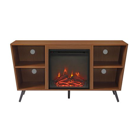Manor Park Mid Century Modern Hairpin Fireplace Tv Stand With Regard To Most Recent Tv Stands With Led Lights In Multiple Finishes (View 9 of 10)