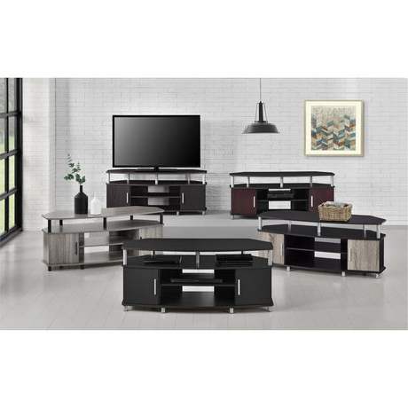 """Mclelland Tv Stands For Tvs Up To 50"""" With Preferred Carson Corner Tv Stand For Tvs Up To 50"""", Black/cherry (View 8 of 10)"""