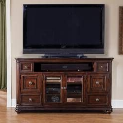 """Miconia Solid Wood Tv Stands For Tvs Up To 70"""" Regarding Most Recent Raya Tv Stand For Tvs Up To 70"""" With Electric Fireplace (View 4 of 10)"""
