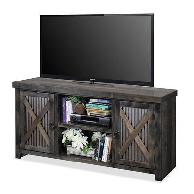"""Millwood Pines Bettie Solid Wood Tv Stand For Tvs Up To 70 With Newest Jowers Tv Stands For Tvs Up To 65"""" (View 3 of 10)"""