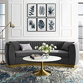 Mireille Modern And Contemporary Fabric Upholstered Sectional Sofas Pertaining To Current Amazon: Meridian Furniture Julian Collection Modern (View 10 of 10)