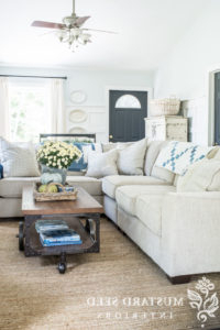 Miss Mustard Seed With Regard To French Seamed Sectional Sofas Oblong Mustard (View 5 of 10)