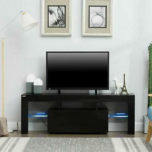 """Modern High Gloss Tv Stand Cabinet Console Unit Furniture Inside Well Known 47"""" Tv Stands High Gloss Tv Cabinet With 2 Drawers (View 5 of 10)"""