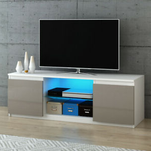 Modern Tv Unit Stand Cabinet High Gloss Door And Matt Body With 2017 Zimtown Tv Stands With High Gloss Led Lights (View 1 of 10)