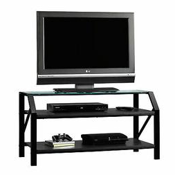 Monarch I 3377 Console Table Grey Cement With Chrome Regarding Popular Furinno Jaya Large Tv Stands With Storage Bin (View 4 of 10)