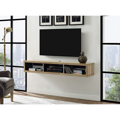 """Most Current Glass Shelves Tv Stands For Tvs Up To 65"""" For Orren Ellis Moats Floating Tv Stand For Tvs Up To  (View 2 of 10)"""