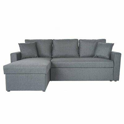 Most Current Light Grey Small L Shape Sectional Sleeper Sofa Pull Out With Regard To Polyfiber Linen Fabric Sectional Sofas Dark Gray (View 7 of 10)