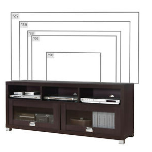 """Most Current Techni Mobili 58"""" Durbin Tv Stand For Tvs Up To 75 In Techni Mobili 58"""" Durbin Tv Stands In Espresso Or Grey Wood (View 3 of 10)"""