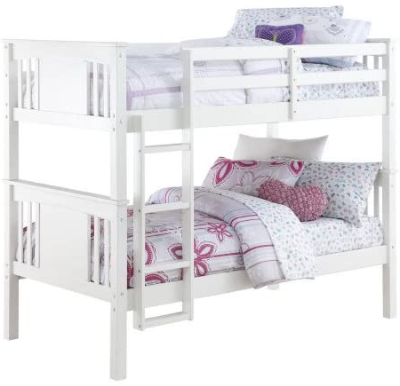 Most Popular Amazon Com Better Homes And Gardens Flynn Twin Bunk Bed White Inside Better Homes & Gardens Herringbone Tv Stands With Multiple Finishes (View 9 of 10)