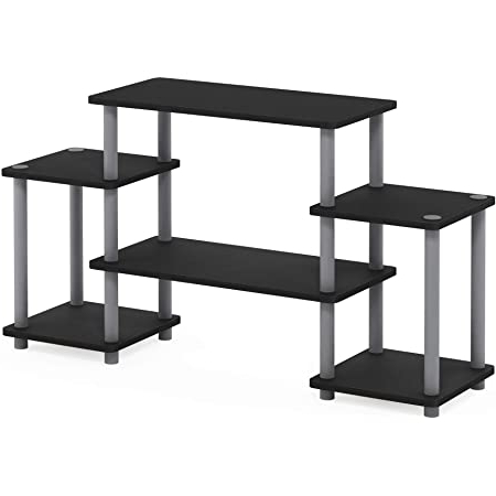 Most Popular Amazon: Furinno Turn N Tube Rounded Corner Tv For Furinno Turn N Tube No Tool 3 Tier Entertainment Tv Stands (View 2 of 10)