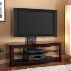 Most Popular Amazon: We Furniture 60 Inch 4 In 1 Tv Stand With Regarding Tv Stands Fwith Tv Mount Silver/black (View 4 of 10)