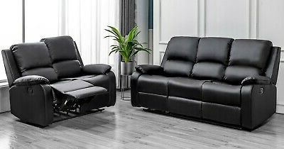 Most Popular Bonded Leather All In One Sectional Sofas With Ottoman And 2 Pillows Brown Regarding 1/2/3 Seat Bounded Leather Recliner Sofa Set Lounge Living (View 8 of 10)