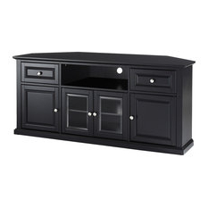 Most Popular Bromley Oak Corner Tv Stands Inside 50 Most Popular Transitional Black Entertainment Centers (View 7 of 10)