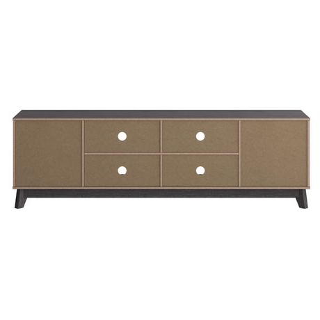 """Most Popular Corliving Hollywood Wood Grain Tv Stand With Drawers For In Bustillos Tv Stands For Tvs Up To 85"""" (View 6 of 10)"""