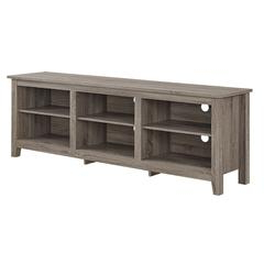 """Most Popular Vasari Corner Flat Panel Tv Stands For Tvs Up To 48"""" Black With Regard To 70"""" Essentials Tv Stand – Driftwood (View 3 of 10)"""