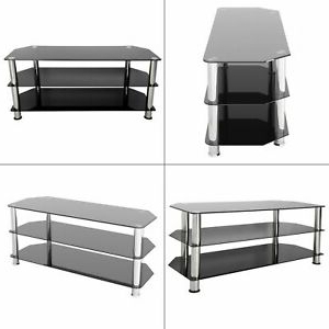 Most Popular Whalen Payton 3 In 1 Flat Panel Tv Stands With Multiple Finishes With Tv Stand Tempered Glass Up To 55 In (View 9 of 10)