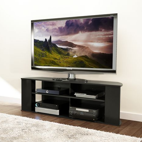 """Most Recent Adayah Tv Stands For Tvs Up To 60"""" With Regard To Prepac Essentials 60 Inch Black Tv Stand (View 9 of 10)"""