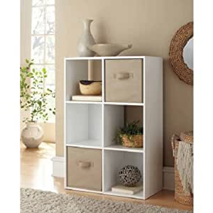 Most Recent Amazon: Mainstays 6 Cube Organizer, 3 Open Backed With Regard To Mainstays Payton View Tv Stands With 2 Bins (View 3 of 10)