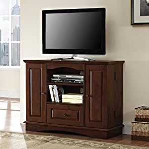 Most Recent Amazon: Walker Edison 42 Inch Bedroom Tv Console With With Regard To Bromley Black Wide Tv Stands (View 3 of 10)