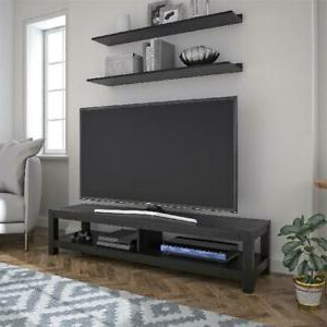 """Most Recent Betton Tv Stands For Tvs Up To 65"""" Inside 65 Inch Wood Tv Stand Unit W/ Open Shelf Entertainment (View 10 of 10)"""