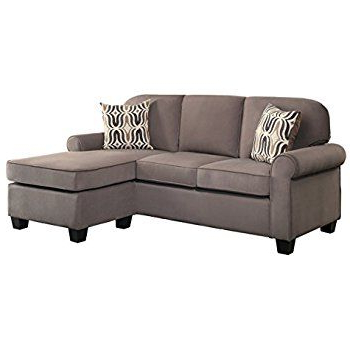 Most Recent Homelegance 8208 3sc 2 Pc Sprague Fossil Textured Fabric For 4pc Crowningshield Contemporary Chaise Sectional Sofas (View 1 of 10)
