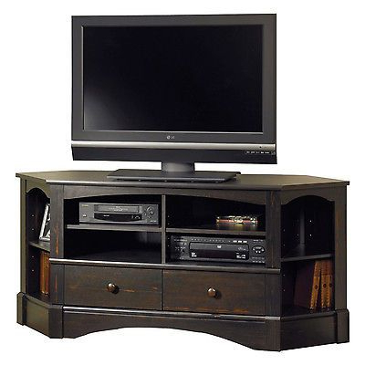 """Most Recent Tv Stand Entertainment Media Center Console 42"""" Wood Room Regarding Corner Entertainment Tv Stands (View 1 of 10)"""
