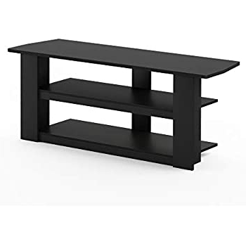 Most Recently Released Furinno 2 Tier Elevated Tv Stands With Regard To Amazon: Furinno 13191ex/bk Turn N Tube No Tools 2 Tier (View 5 of 10)