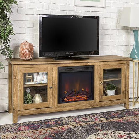"""Most Recently Released Inglenook Tv Stand For Tvs Up To 60"""" With Fireplace With Regard To Lorraine Tv Stands For Tvs Up To 60"""" With Fireplace Included (View 5 of 10)"""