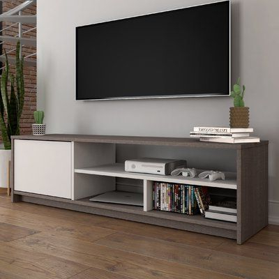 Most Recently Released Latitude Run® Frederick Tv Stand For Tvs Up To 60 With Simple Open Storage Shelf Corner Tv Stands (View 1 of 10)