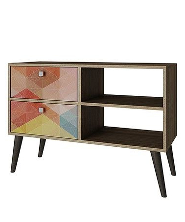 Most Recently Released Love This Geometric Dalarna Media Console On #zulily! # In Stuart Geometric Corner Fit Glass Door Tv Stands (View 4 of 10)