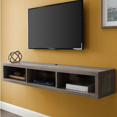 Most Recently Released Orren Ellis Maughan Floating Tv Stand For Tvs Up To 65 Throughout Floating Tv Shelf Wall Mounted Storage Shelf Modern Tv Stands (View 4 of 10)