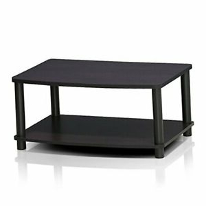 Most Recently Released Turn N Tube No Tools 2 Tier Elevated Tv Stand, Dark Walnut In Furinno 2 Tier Elevated Tv Stands (View 8 of 10)