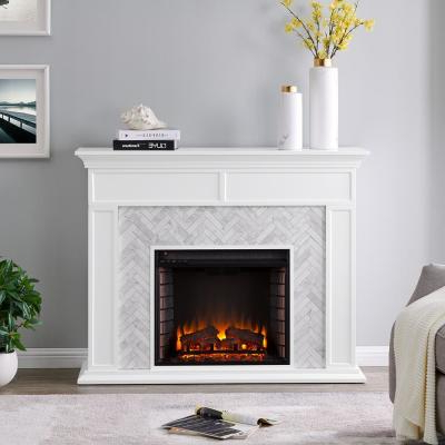 Most Recently Released White – Electric Fireplaces – Fireplaces – The Home Depot Inside Twin Star Home Terryville Barn Door Tv Stands (View 5 of 10)