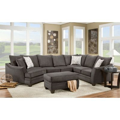 Most Up To Date 3pc Polyfiber Sectional Sofas With Chelsea Home Cupertino Sectional (View 9 of 10)