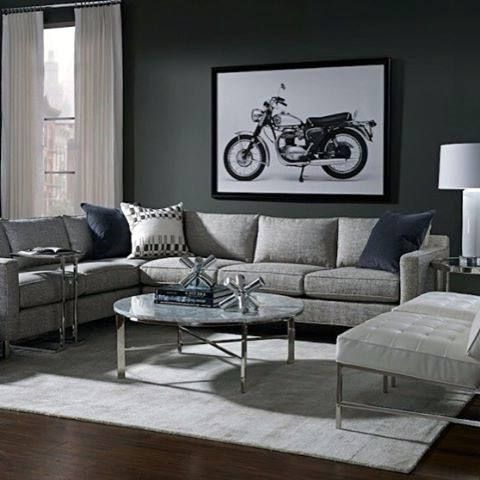 Most Up To Date 60 Bachelor Pad Furniture Design Ideas For Men – Masculine Regarding Ludovic Contemporary Sofas Light Gray (View 6 of 10)