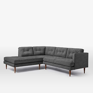 Most Up To Date Alani Mid Century Modern Sectional Sofas With Chaise With Peggy Mid Century Terminal Chaise Sectional #westelm (View 5 of 10)