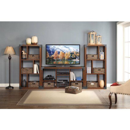 Most Up To Date Better Homes & Gardens Herringbone Tv Stands With Multiple Finishes Within Whalen Landon Tv Stand With Cube Organizer For Flat Panel (View 1 of 10)