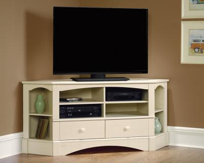 Most Up To Date Exhibit Corner Tv Stands Inside Sauder 402905 Harbor View Corner Entertainment Credenza Tv (View 4 of 10)